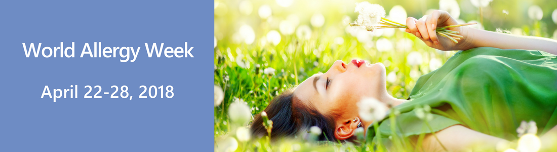 World Allergy Week - Photo: A girl lying in a grass field