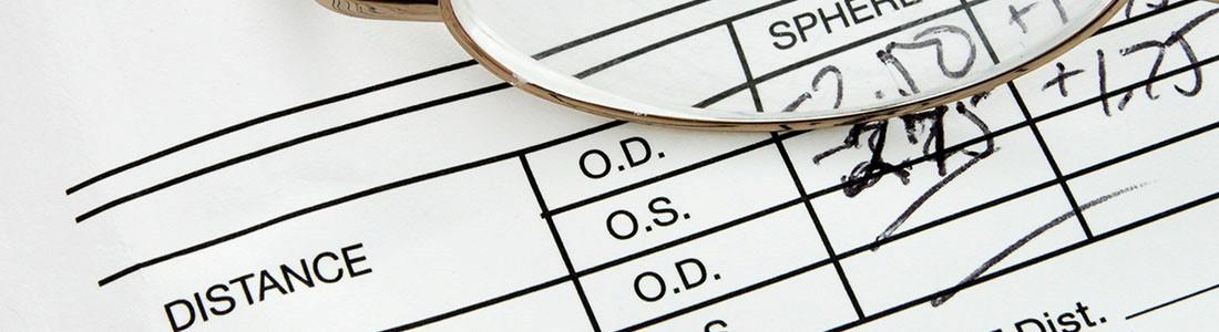 Eyesight prescription numbers