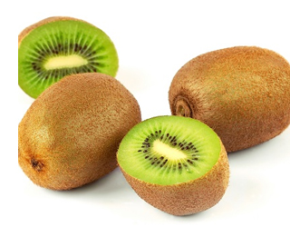 Kiwi citrus fruit is full of vitamin c and good for eye health
