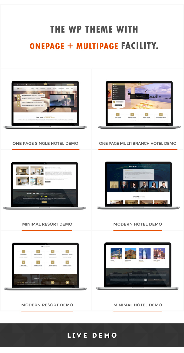 Restinn- A Booking One Page Theme For Resort Hotel