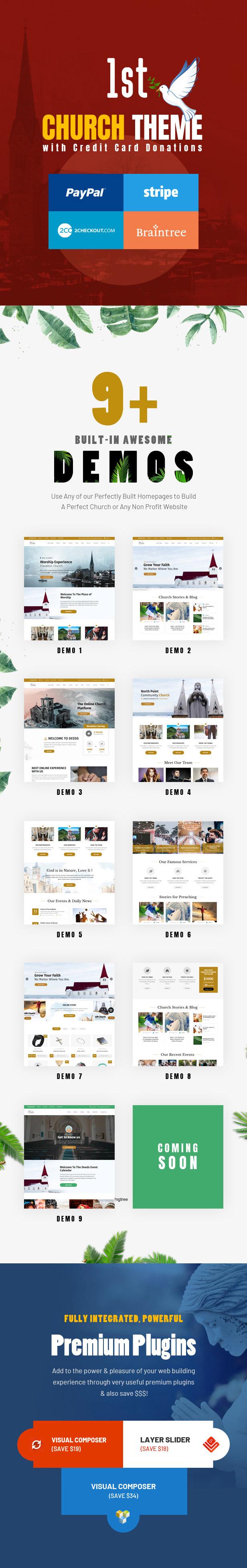 Deeds - El mejor tema responsivo de WordPress para iglesias sin fines de lucro - 3