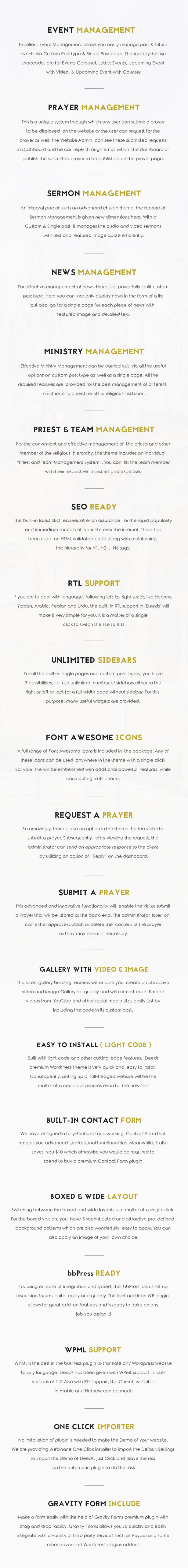 Deeds - El mejor tema responsivo de WordPress para iglesias sin fines de lucro - 5