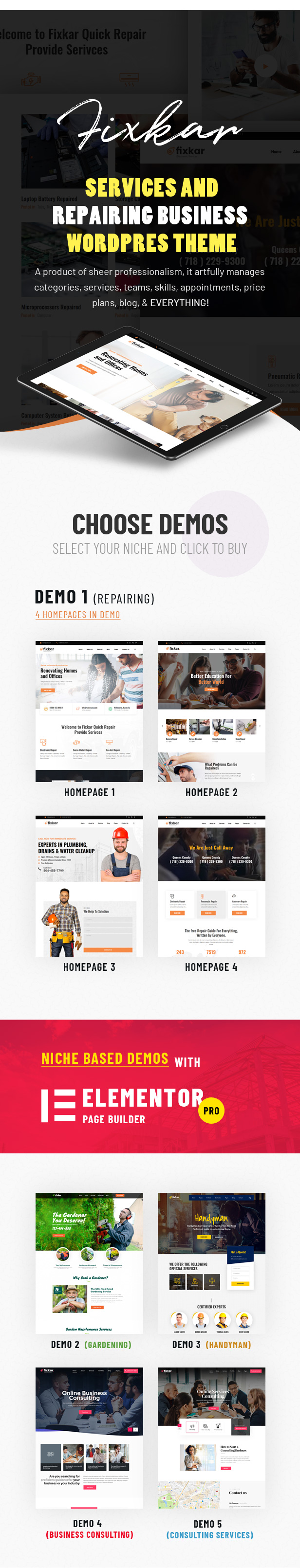 fixkar html template for services and repairing business