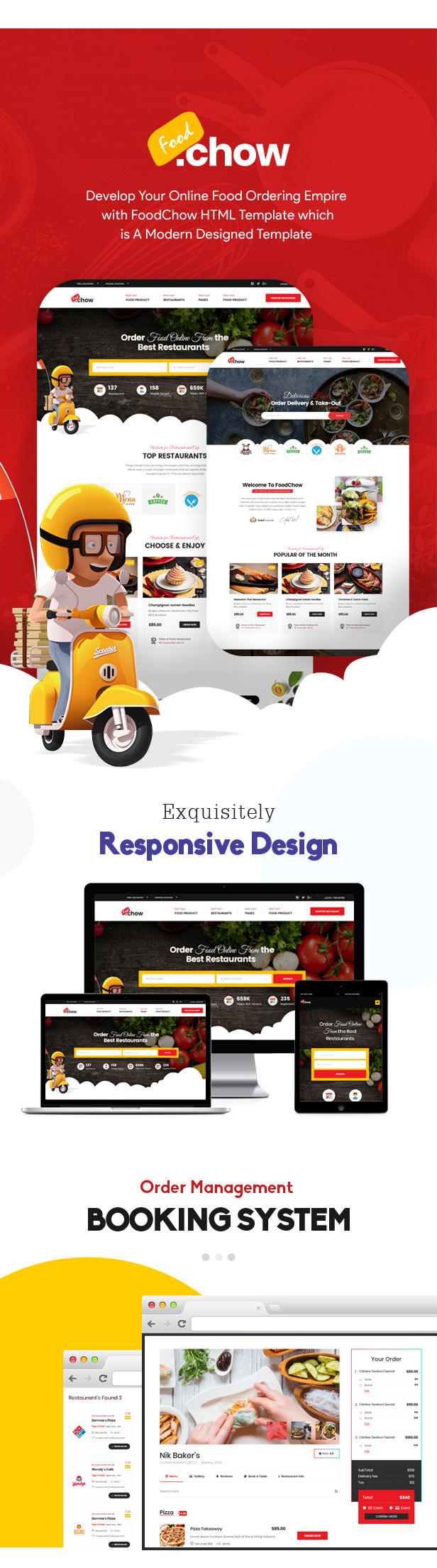 FoodChow - A Food Ordering or Hotel Directory HTML Template - 1