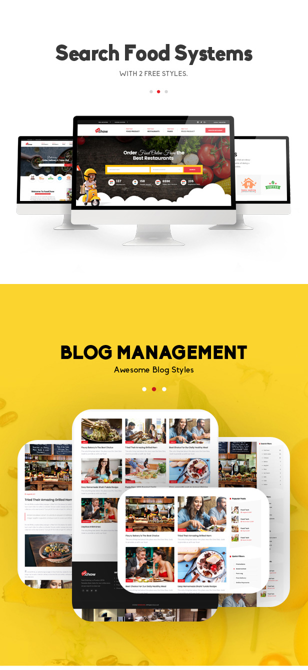 FoodChow - A Food Ordering or Hotel Directory HTML Template - 2