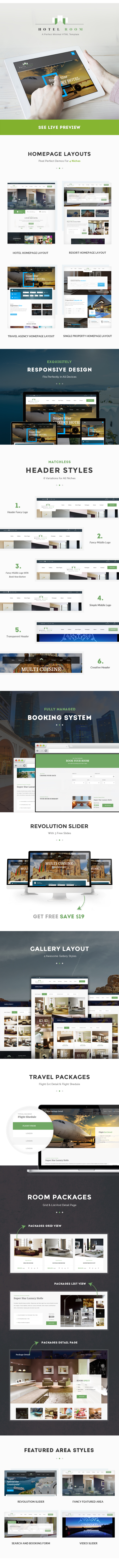 Hotel Room- Minimalist Hotel, Travel HTML Template by webinane ...