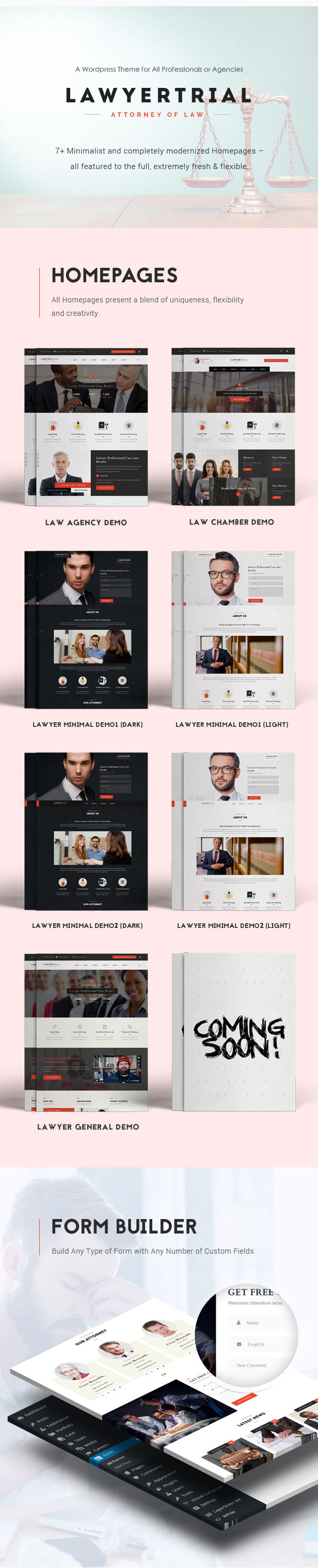 Lawyer Trial - WP Theme for Lawyers, Attorneys and Professionals with Appointment System