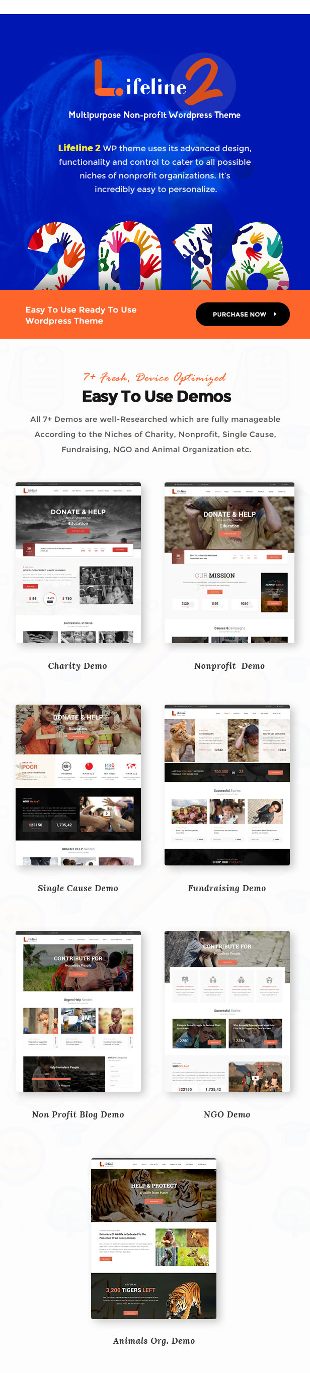 Lifeline 2 - An Ultimate Nonprofit WordPress Theme for Charity, Fundraising and NGO Organizations - 2