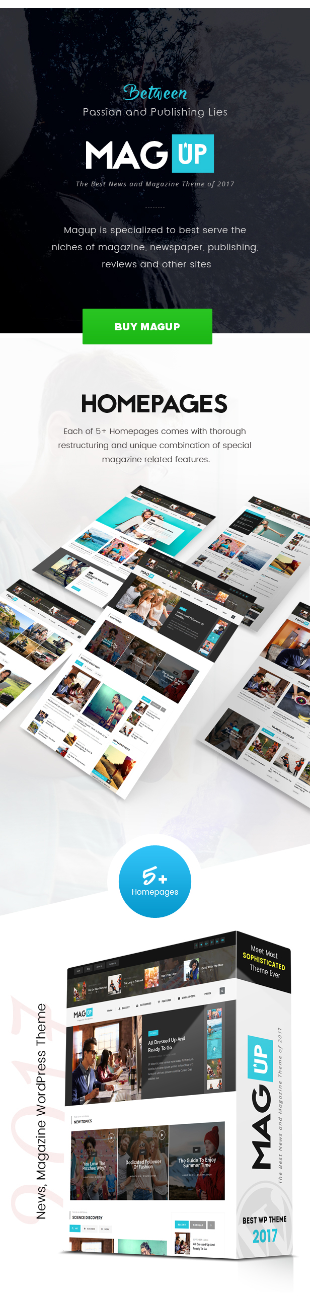 MagUp - Modern Styled Magazine WordPress Theme with Paid / Free ...