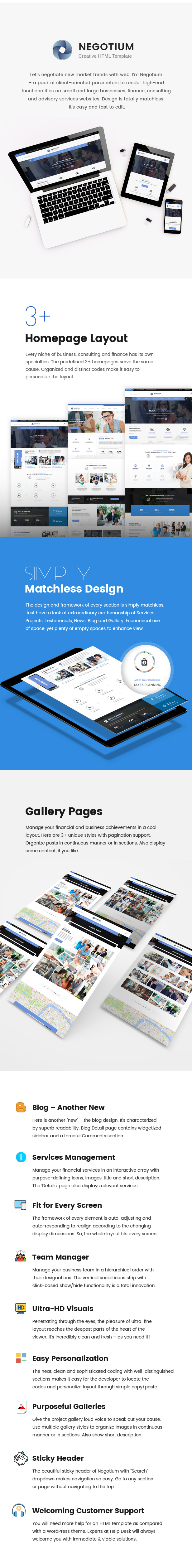 Negotium - Business, Finance, Consultation Multipurpose HTML Template - 1
