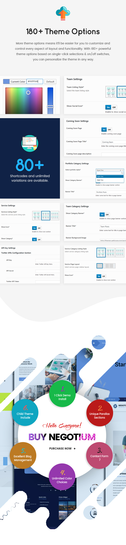 Negotium - flexible big business WordPress guide