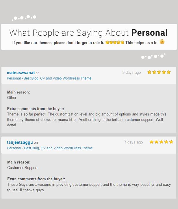 Personal - El mejor tema de WordPress para blog, CV y video - 13