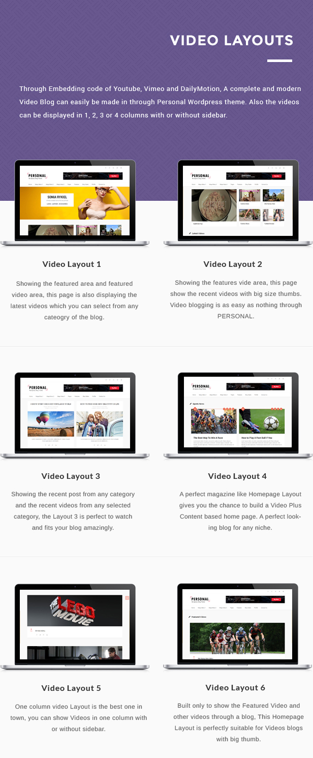 Personal - Best Blog, CV and Video WordPress Theme