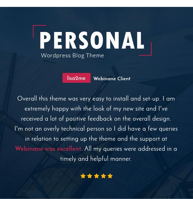 Personal - El mejor tema de WordPress para blog, CV y video - 2