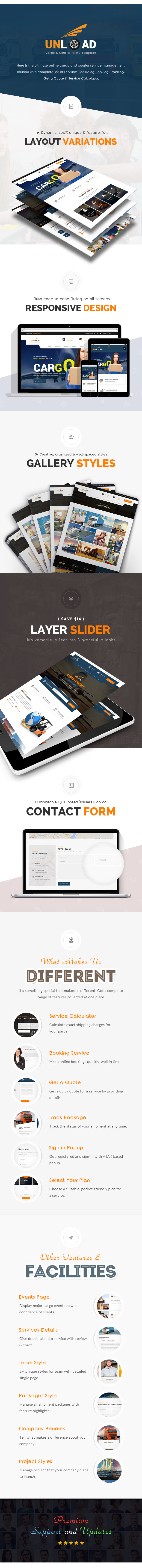 Unload - Cargo, Shipping, Warehouse & Transport HTML5 Responsive ...