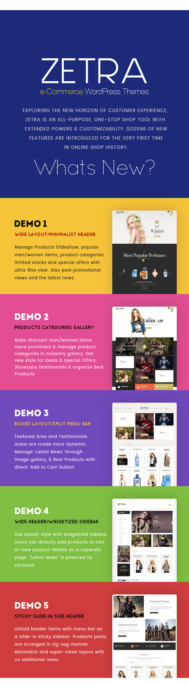 Zetra - A WordPress Theme for eCommerce Websites