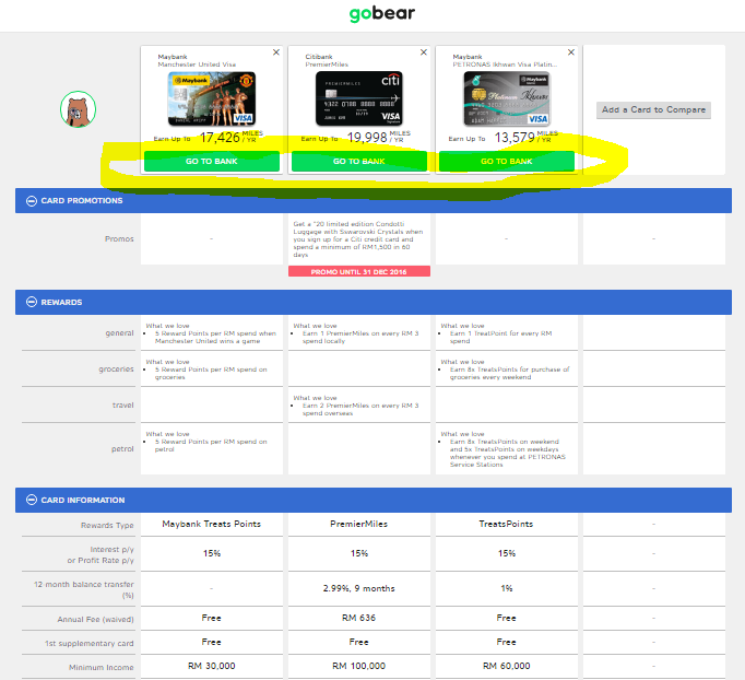 Screenshot of gobear.com.my