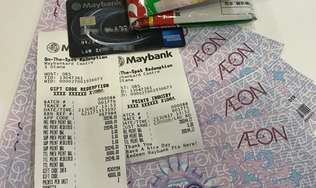 AEON voucher redemption
