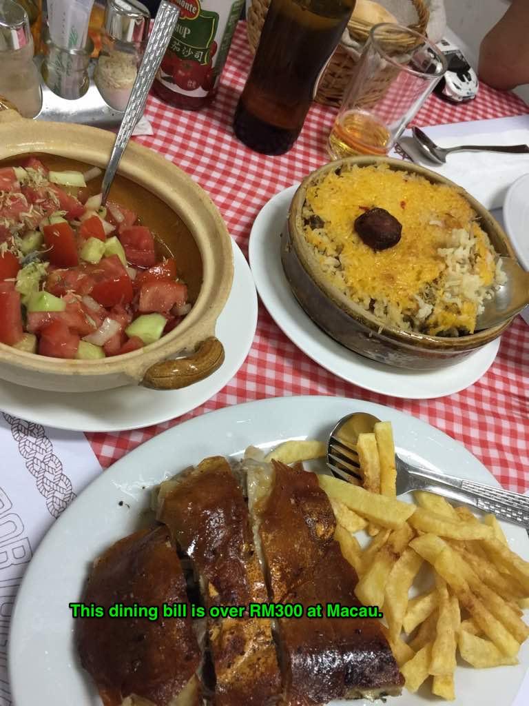 Expensive meal in Macau