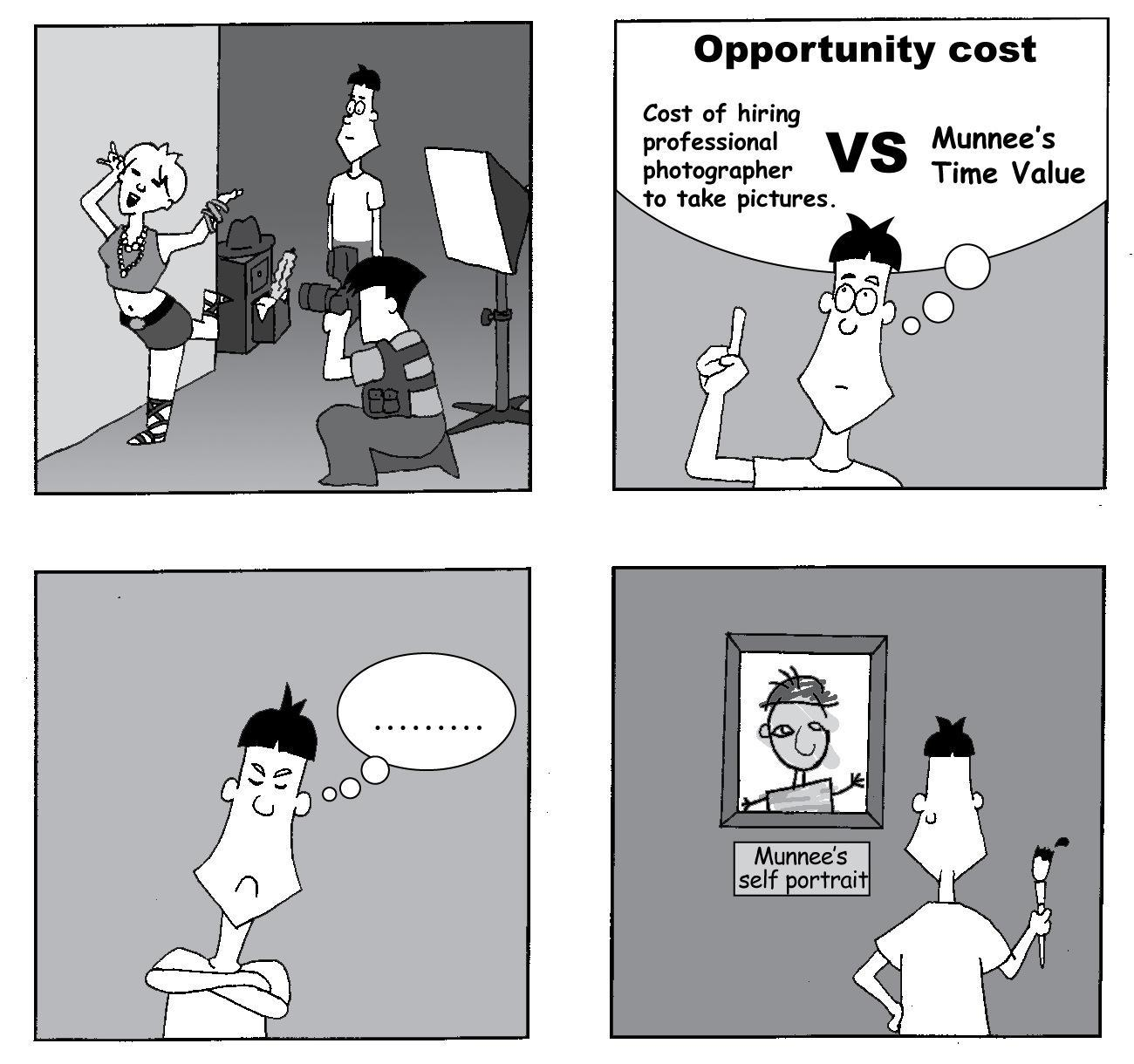 Funny Munnee Comic - Opportunity Cost