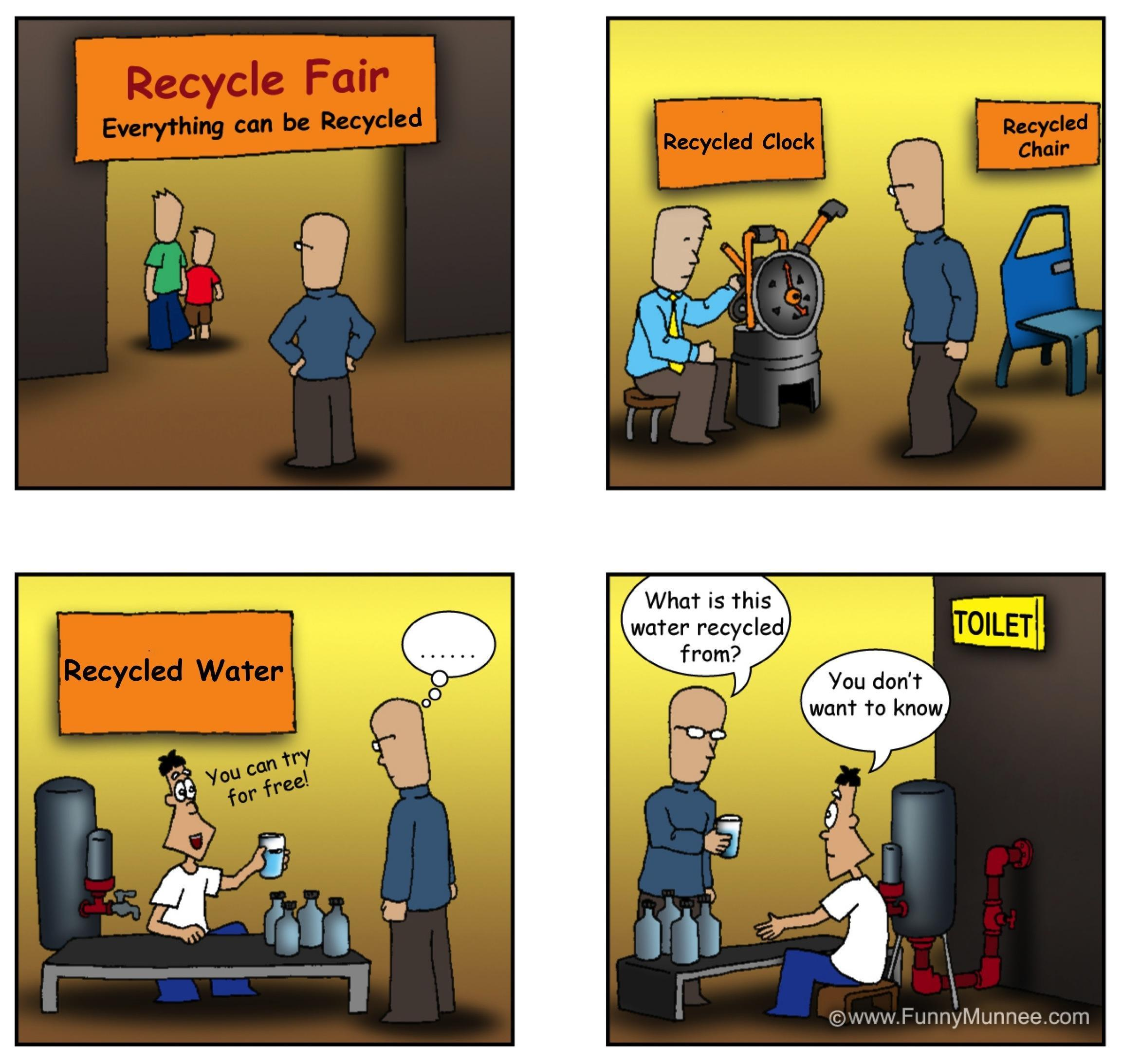 Recycled drinking water