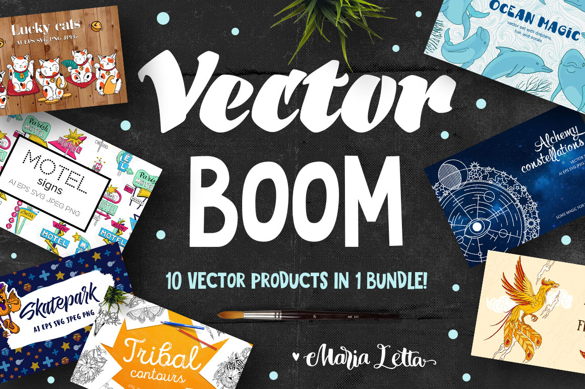Vector Boom - 10 Vector sets in one Bundle - only $8