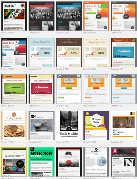 MailPoet Premium Templates with PSD files