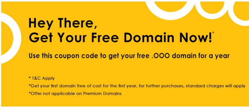 Get FREE .ooo Domain For First Year