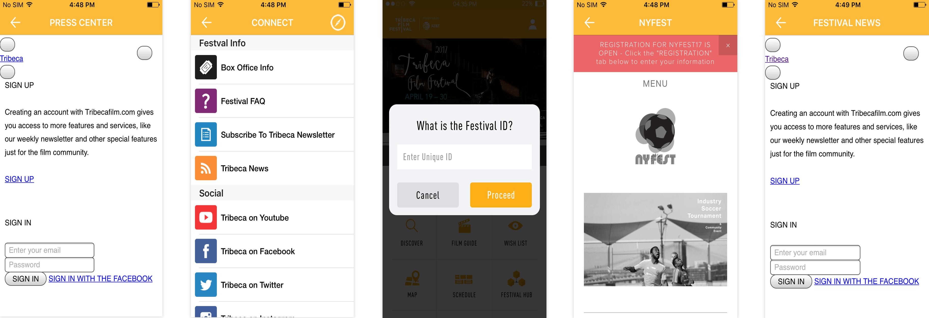 Tribeca Film Festival App | webMOBI