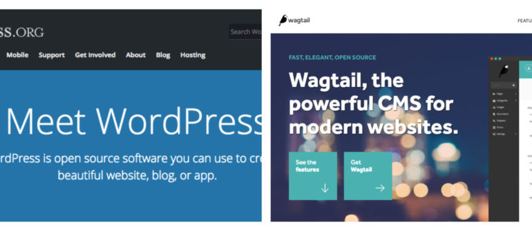 WordPress vs Wagtail
