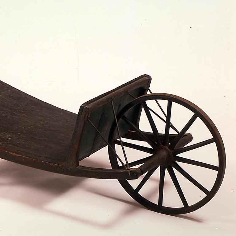 1950.1007.1 - Wheelbarrow - Church Family, Mount Lebanon, NY wheelbarrow, c. 1825-1850