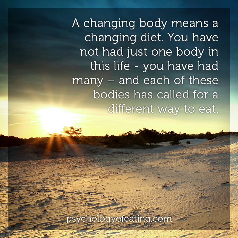 A changing body means a changing diet #health #nutrition #eatingpsychology #IPE