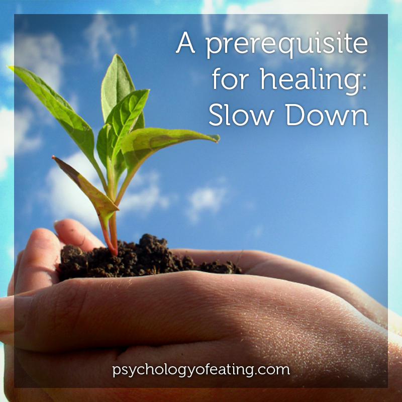 A prerequisite for healing- Slow Down #health #nutrition #eatingpsychology #IPE