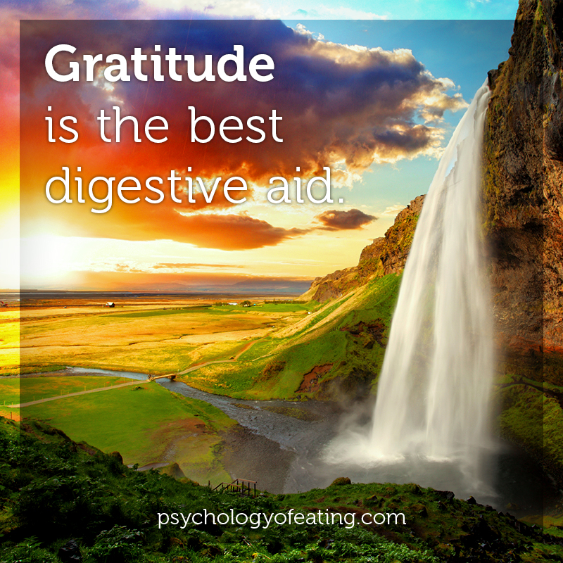 Gratitude is the best digestive aid #health #nutrition #eatingpsychology #IPE