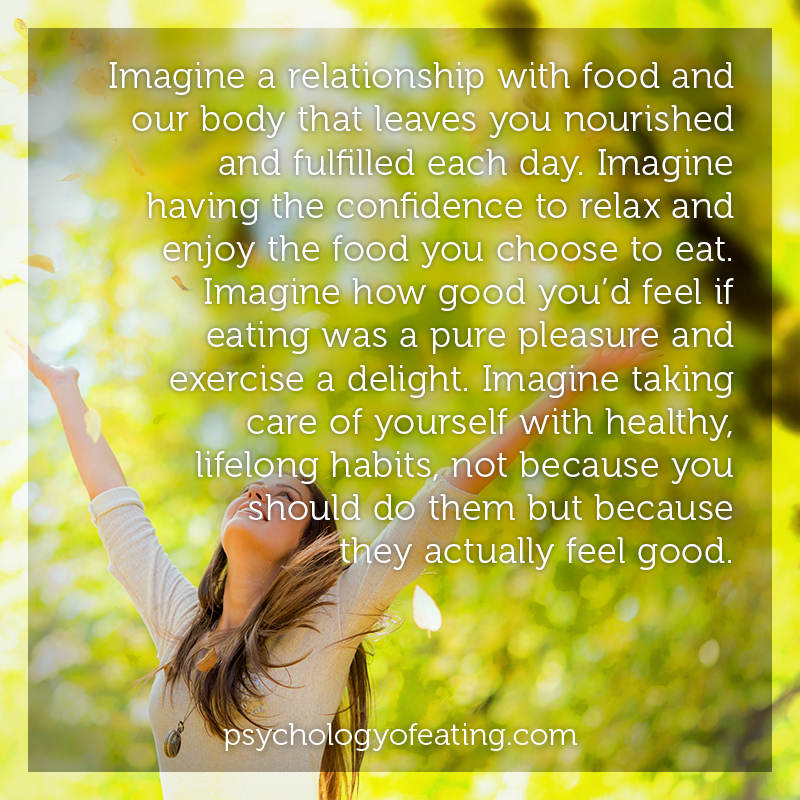 Imagine a relationship with food and our body that leaves you nourished and fulfilled each day #health #nutrition #eatingpsychology #IPE