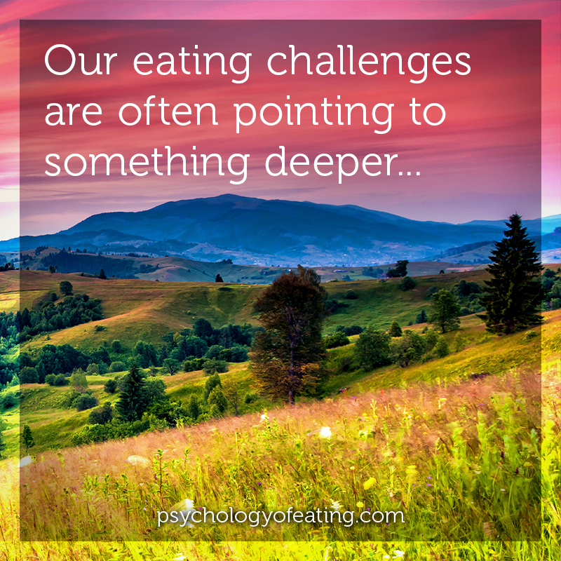 Our eating challenges are often pointing to something deeper #health #nutrition #eatingpsychology #IPE