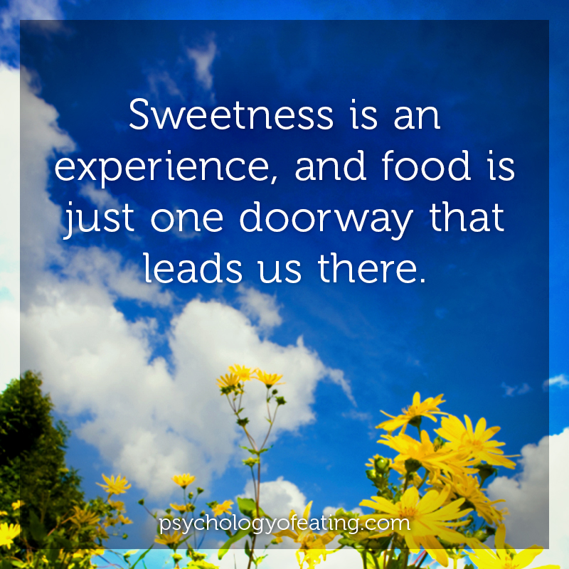 Sweetness is an experience #health #nutrition #eatingpsychology #IPE