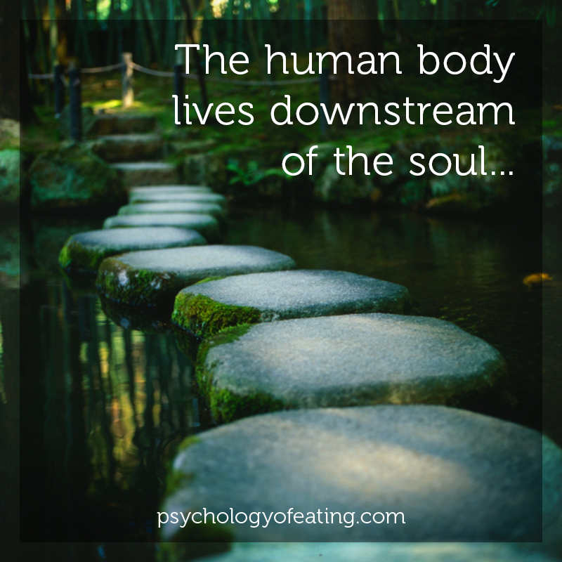 The human body lives downstream of the soul  #health #nutrition #eatingpsychology #IPE