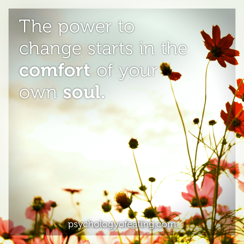 The power to change starts in the comfort #health #nutrition #eatingpsychology #IPE