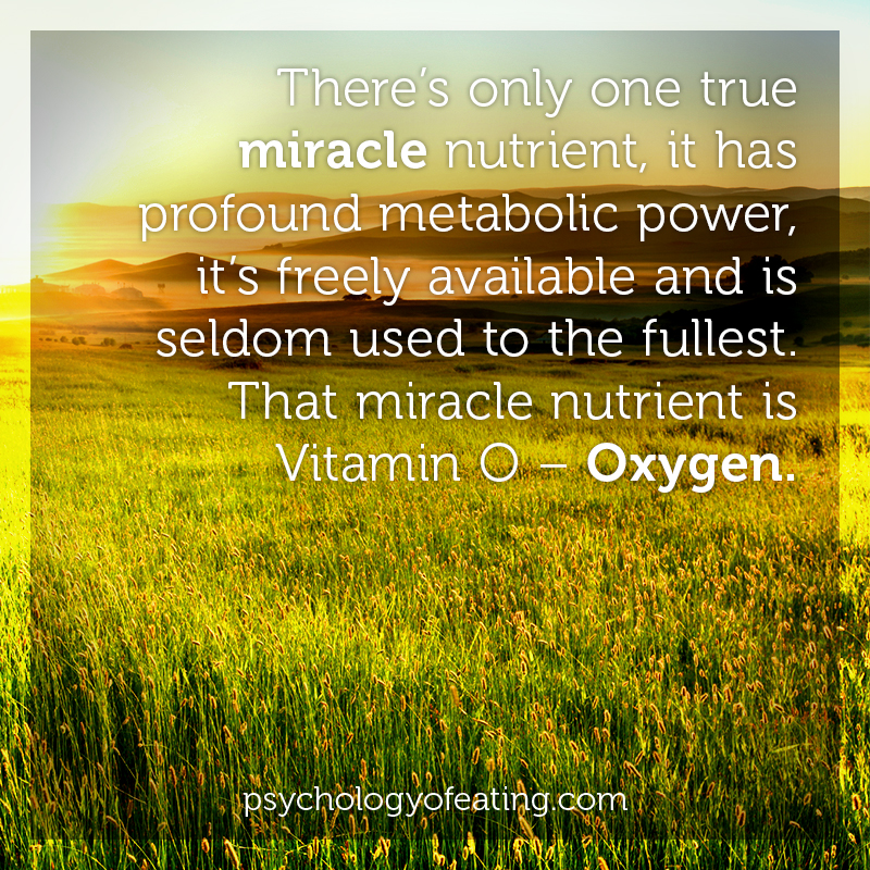 There's only one true miracle nutrient, it has profound metabolic power, it's freely available and is seldom used to the fullest #health #nutrition #eatingpsychology #IPE