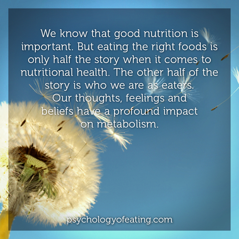 We know that good nutrition is important #health #nutrition #eatingpsychology #IPE