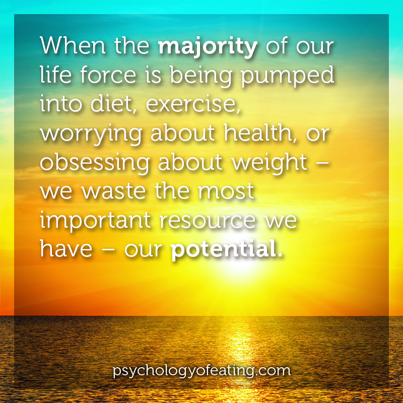 When the majority of our life force is being pumped into diet #health #nutrition #eatingpsychology #IPE