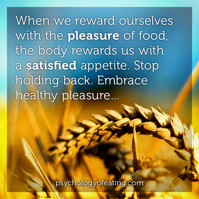 When we reward ourselves with the pleasure of food #health #nutrition #eatingpsychology #IPE