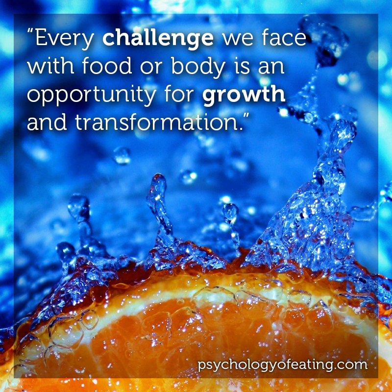 Every challenge we face with food or body is an opportunity for growth and transformation #health #nutrition #eatingpsychology #IPE