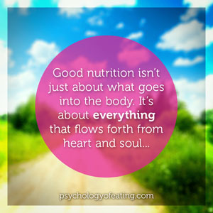 Good nutrition isnt just about what goes into the body #health #nutrition #eatingpsychology #IPE