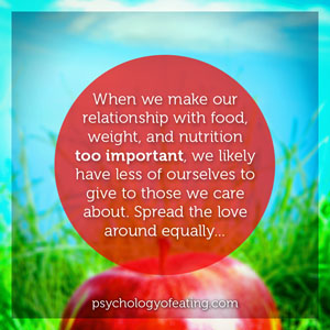 When we make our relationship with food weight and nutrition. #health #nutrition #eatingpsychology #IPE