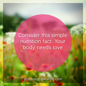 Your body needs love #health #nutrition #eatingpsychology #IPE