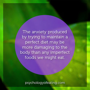 The anxiety produced to maintain a perfect diet #health #nutrition #eatingpsychology #IPE