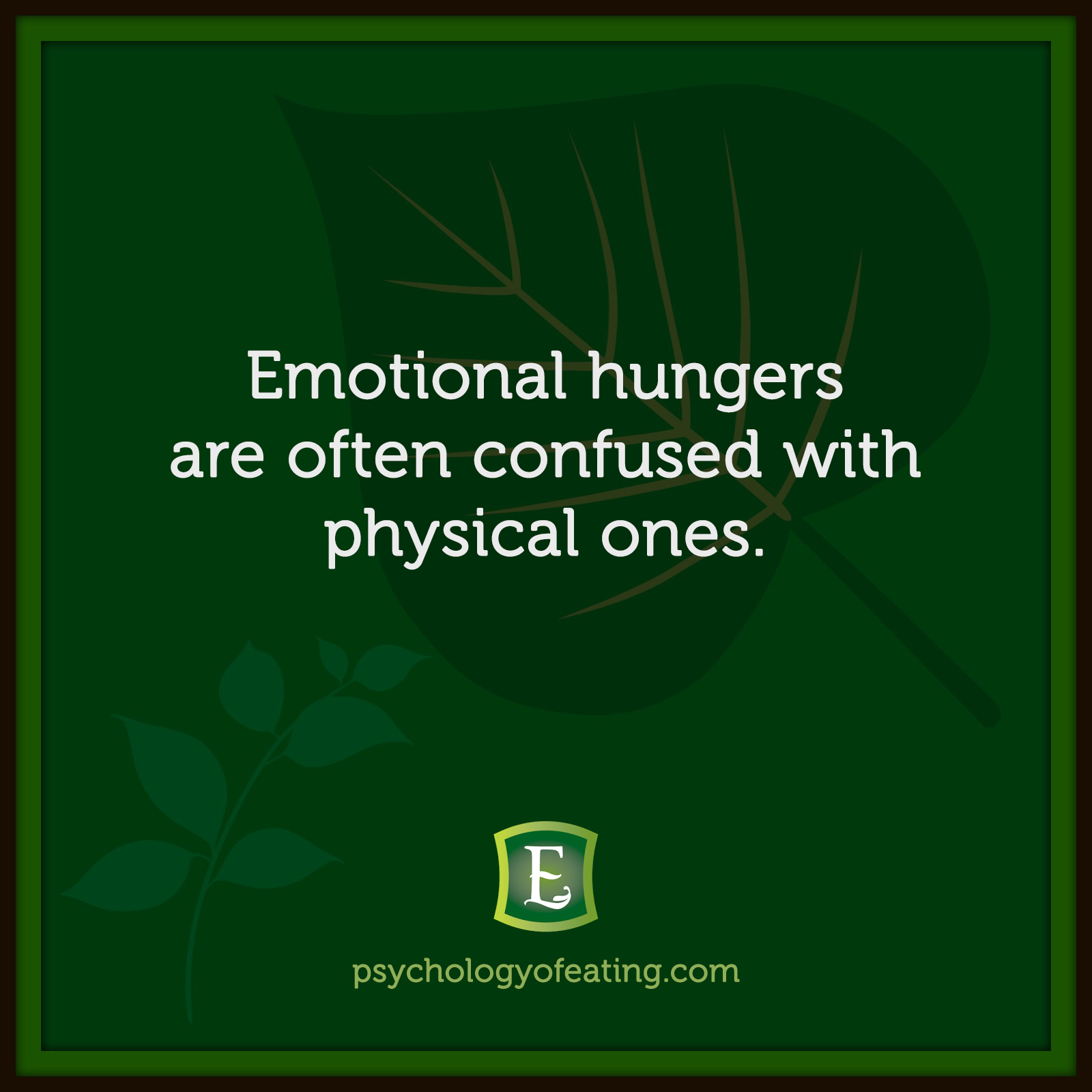 Emotional hungers are often confused with physical ones.. #health #nutrition #eatingpsychology #IPE
