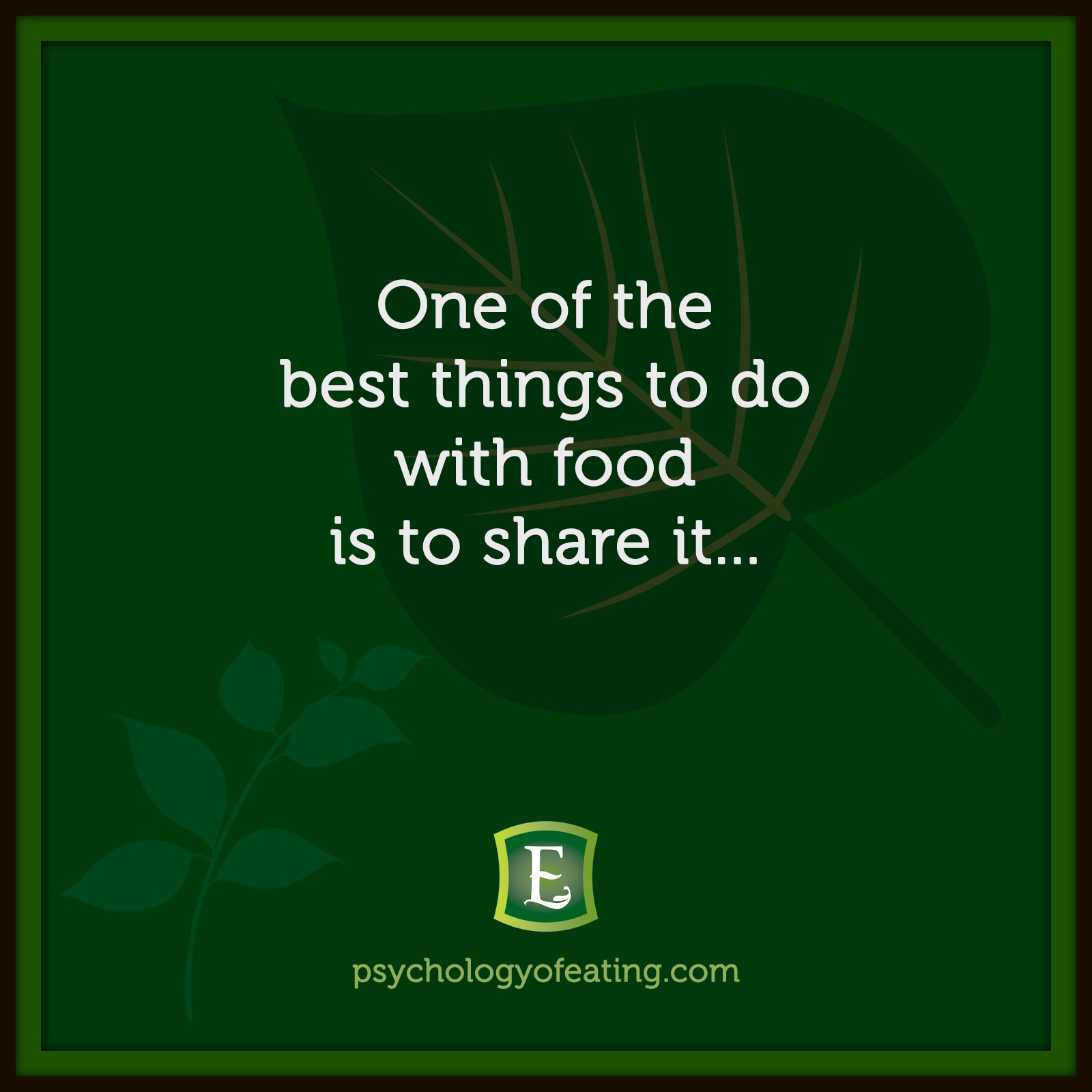 One of the best things to do with food is to share it… #health #nutrition #eatingpsychology #IPE